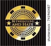 between love and hate golden... | Shutterstock .eps vector #741960487
