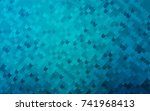 light blue vector blurry arched ... | Shutterstock .eps vector #741968413