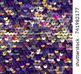 sequins  seamless pattern.... | Shutterstock .eps vector #741982177