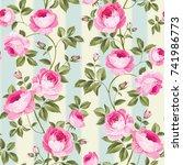 luxurious peony wallapaper in... | Shutterstock .eps vector #741986773