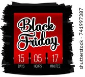 abstract vector black friday... | Shutterstock .eps vector #741997387