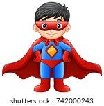 vector illustration of cartoon... | Shutterstock .eps vector #742000243