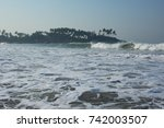 the sea foam and the... | Shutterstock . vector #742003507