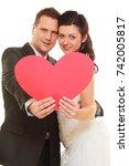 love symbols  wedding day...   Shutterstock . vector #742005817