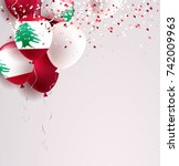 22 november. lebanon... | Shutterstock .eps vector #742009963
