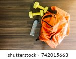 sports bag with sports equipment | Shutterstock . vector #742015663