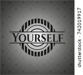 yourself dark badge | Shutterstock .eps vector #742019917