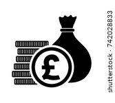 British Pound  Money Bag With...
