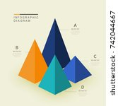 info graphic diagram design | Shutterstock .eps vector #742044667