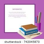 mathematics poster with white...