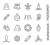 christmas icons   christmas... | Shutterstock .eps vector #742053907