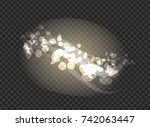 blurred glittering sparkling... | Shutterstock .eps vector #742063447