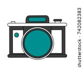 photographic camera icon image | Shutterstock .eps vector #742082383