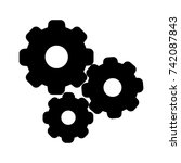 settings gears icon symbol | Shutterstock .eps vector #742087843