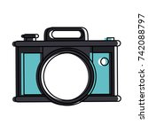 photographic camera icon image  | Shutterstock .eps vector #742088797
