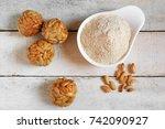 preparing some typical spanish... | Shutterstock . vector #742090927