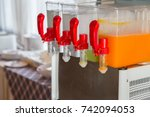 orange juice and water in... | Shutterstock . vector #742094053