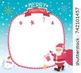 merry christmas template card... | Shutterstock .eps vector #742101457