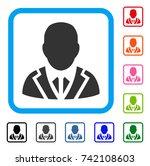 valet icon. flat gray pictogram ...