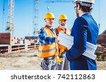 construction worker in... | Shutterstock . vector #742112863