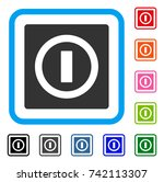 switch icon. flat gray...   Shutterstock .eps vector #742113307