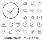 success icon in set on the... | Shutterstock .eps vector #742115443