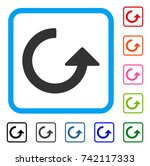 rotate icon. flat grey iconic... | Shutterstock .eps vector #742117333