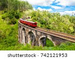 train on the nine arches... | Shutterstock . vector #742121953