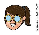 girl faceless cartoon | Shutterstock .eps vector #742125667