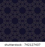 arabic geometric seamless... | Shutterstock .eps vector #742127437