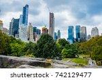 new york   october 1 2017... | Shutterstock . vector #742129477