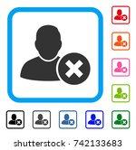 delete user icon. flat grey... | Shutterstock .eps vector #742133683