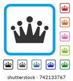 crown icon. flat gray pictogram ...