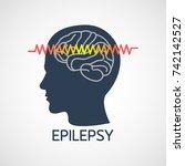 epilepsy vector logo icon... | Shutterstock .eps vector #742142527