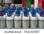 brussels  belgium   august 27 ...   Shutterstock . vector #742142587