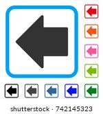 arrow left icon. flat grey... | Shutterstock .eps vector #742145323