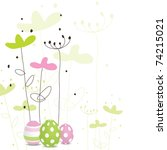 easter card with copy space | Shutterstock . vector #74215021
