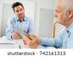 professional adviser showing... | Shutterstock . vector #742161313