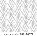 abstract geometric pattern with ... | Shutterstock . vector #742170877