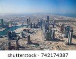 dubai united arab of  emirates  ... | Shutterstock . vector #742174387