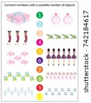 mathematics kindergarten... | Shutterstock .eps vector #742184617