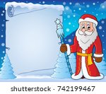 father frost theme parchment 4  ... | Shutterstock .eps vector #742199467