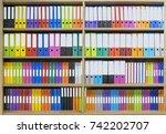 office document folders... | Shutterstock . vector #742202707
