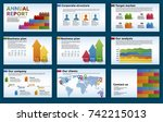 elements of infographics for... | Shutterstock .eps vector #742215013