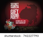 secret santa background with... | Shutterstock .eps vector #742227793