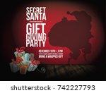 Secret Santa Background With...