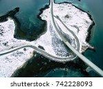 bridge at lofoten islands ...   Shutterstock . vector #742228093
