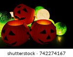 the concept halloween with copy ... | Shutterstock . vector #742274167