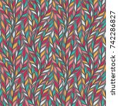 hand drawn pattern with...   Shutterstock .eps vector #742286827
