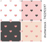 tile vector pattern set with... | Shutterstock .eps vector #742292197